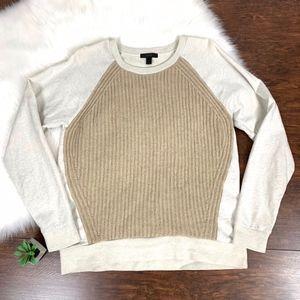 J. Crew 2-Tones 100% Wool Knitted Crewneck Sweater